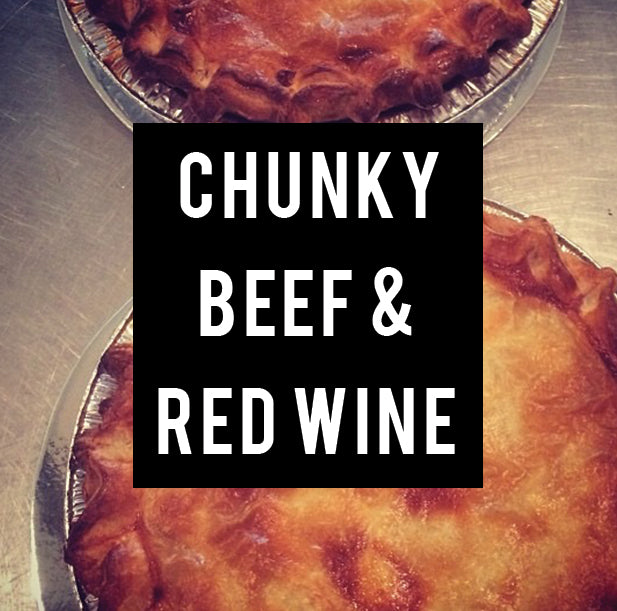 chunky beef & red wine family pie