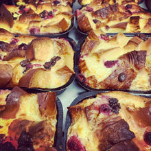 Load image into Gallery viewer, dark chocolate & raspberry croissant pudding