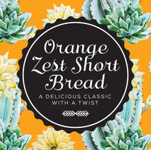 Load image into Gallery viewer, orange zest shortbread