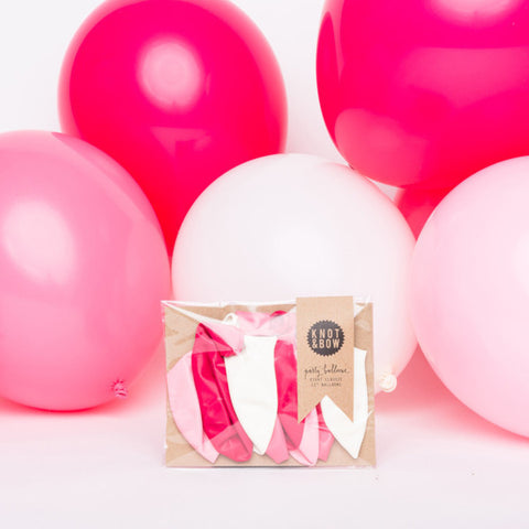 Set Mini Palloncini - Mix Rosa