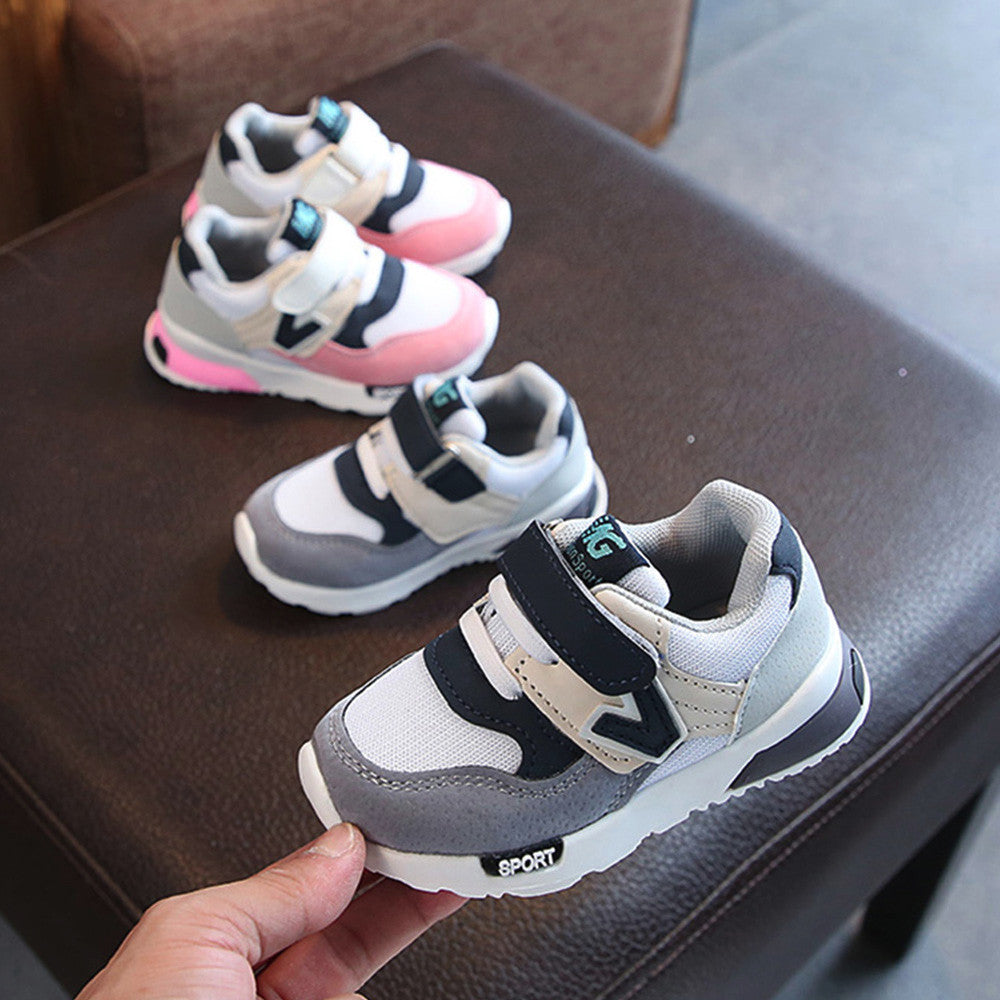 High Quality Toddler Baby Children Casual Sneakers Mesh Soft Running Letter Shoes - SnazzyBabe