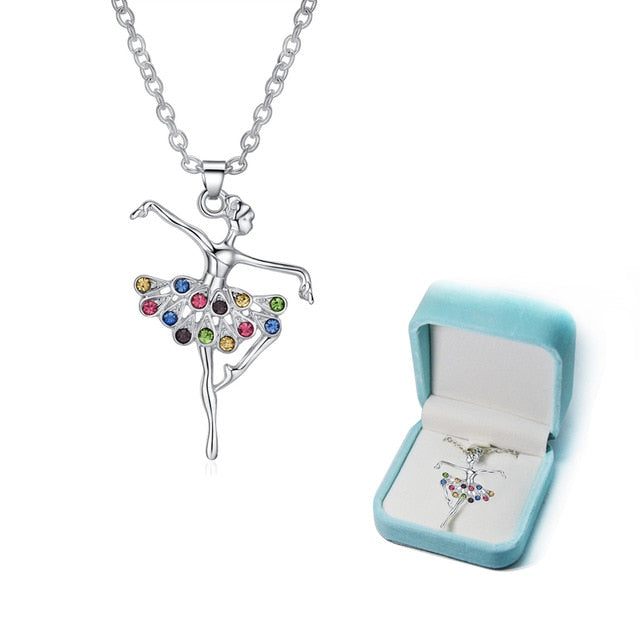 Dancing Ballerina Pendant Necklace