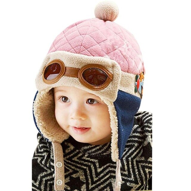 Too Cute Pilot Crochet Ear flap Winter Hat - SnazzyBabe