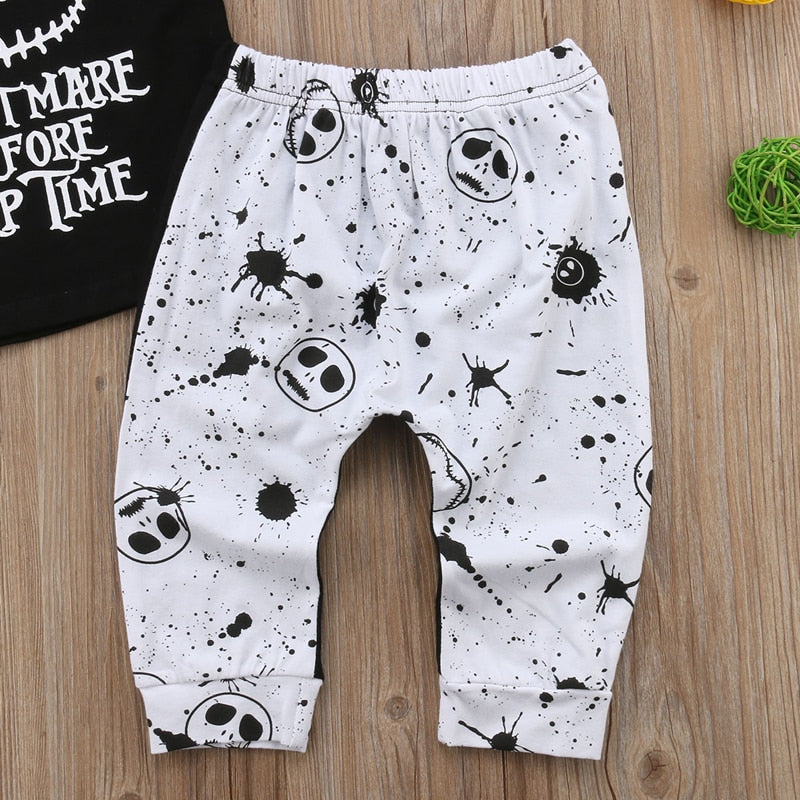 Cute Letter Print Baby Clothes Set