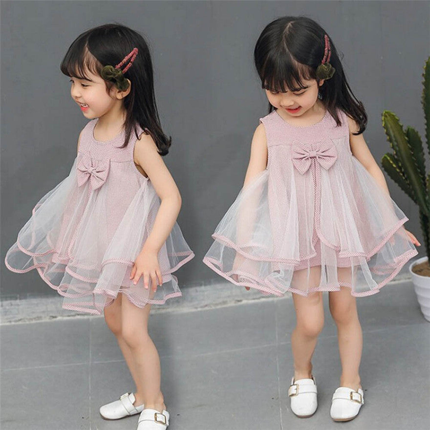 Adorable Tulle Ruched Princess Dresses With Bowknot - SnazzyBabe