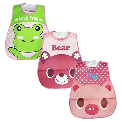 Baby Bibs Waterproof 3 Pieces/lot - SnazzyBabe