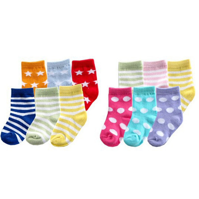 6 Pairs/lot Super Soft Stripe Socks for Baby - SnazzyBabe