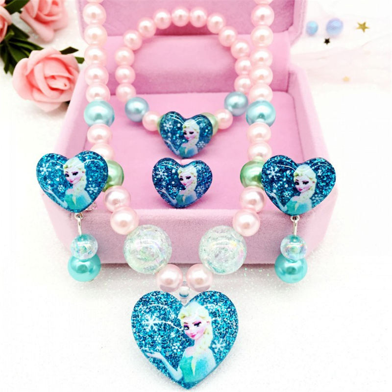 Disney 4pcs/lot Frozen Princesses Jewelry Set