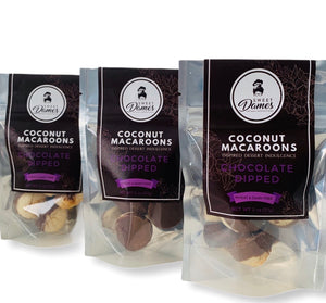 Bite-Size Chocolate Dipped Coconut Macaroon Bundle