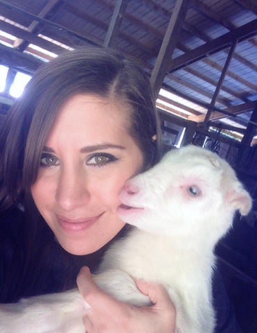 Julie and Baby Goat