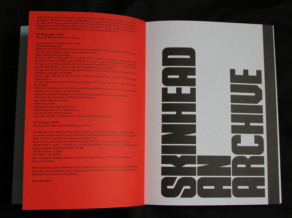 Skinhead An Archive 2020 Street Edition/Signed by Toby Mott- CULTURAL TRAFFIC SHOP