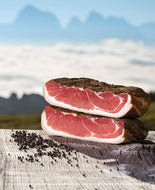 Speck Alto Adige IGP (protected geographical Indication smoked prosciutto)