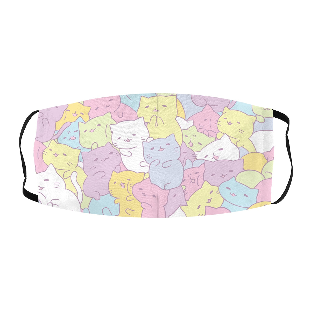 ASTI Face Mask Cats in Pastel