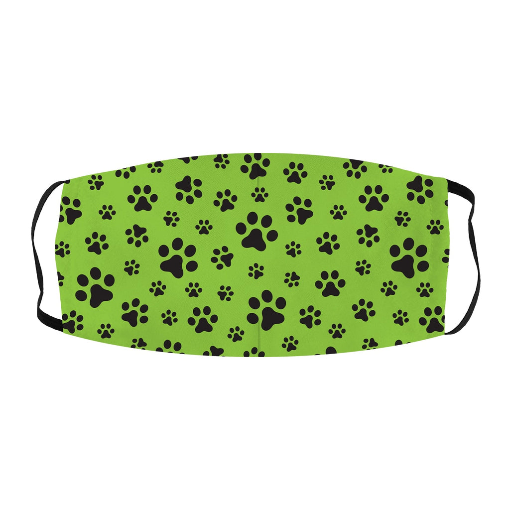 ASTI Face Mask Dog Paw Prints Lime Green