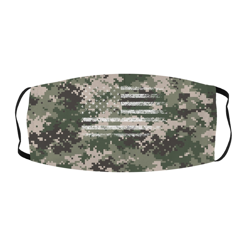 ASTI Face Mask Digital Camo American Flag Green