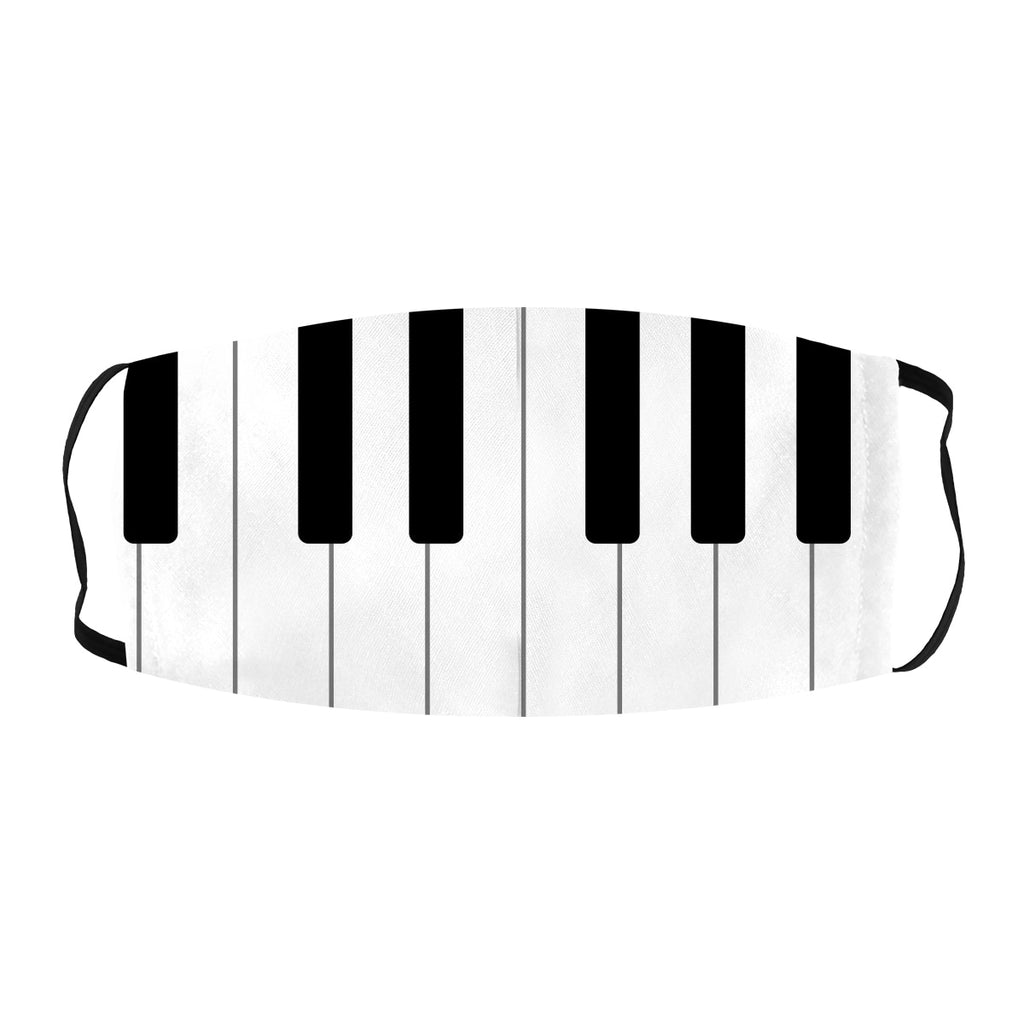 ASTI Face Mask Music Piano Black and White Keys