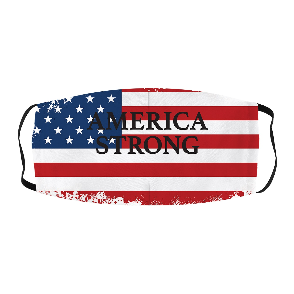 ASTI Face Mask America Strong Distressed Flag Still Strong