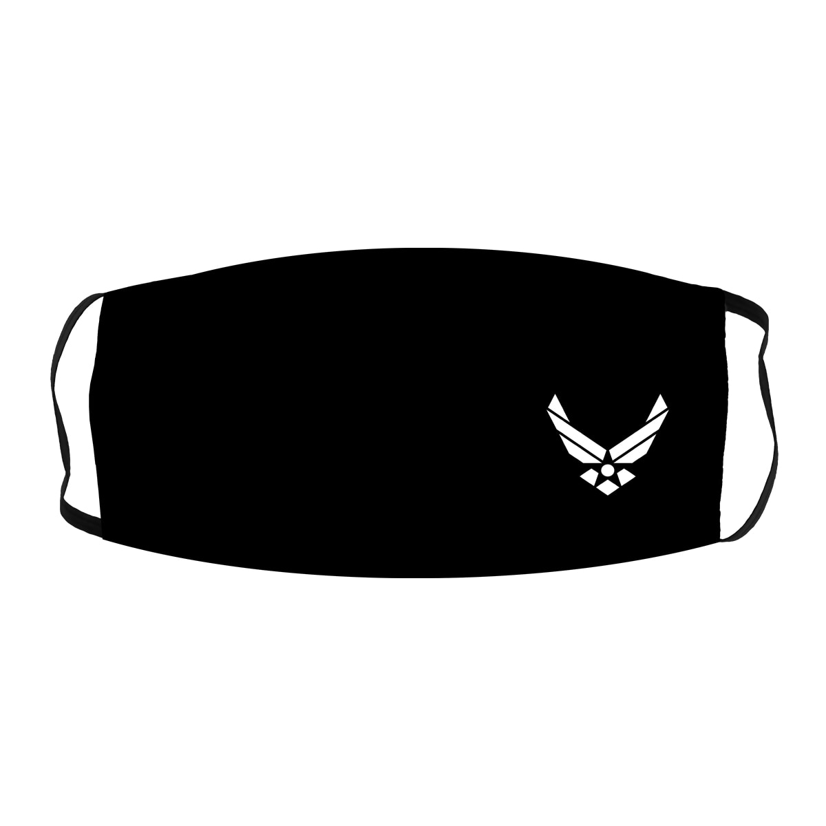 United States Air Force #2 Black Cloth Face Mask
