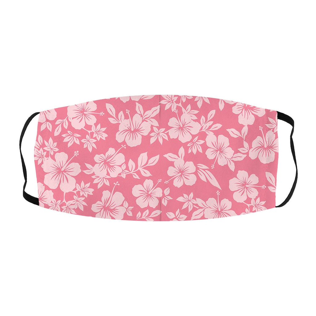 ASTI Face Mask Pink Hibiscus Pattern