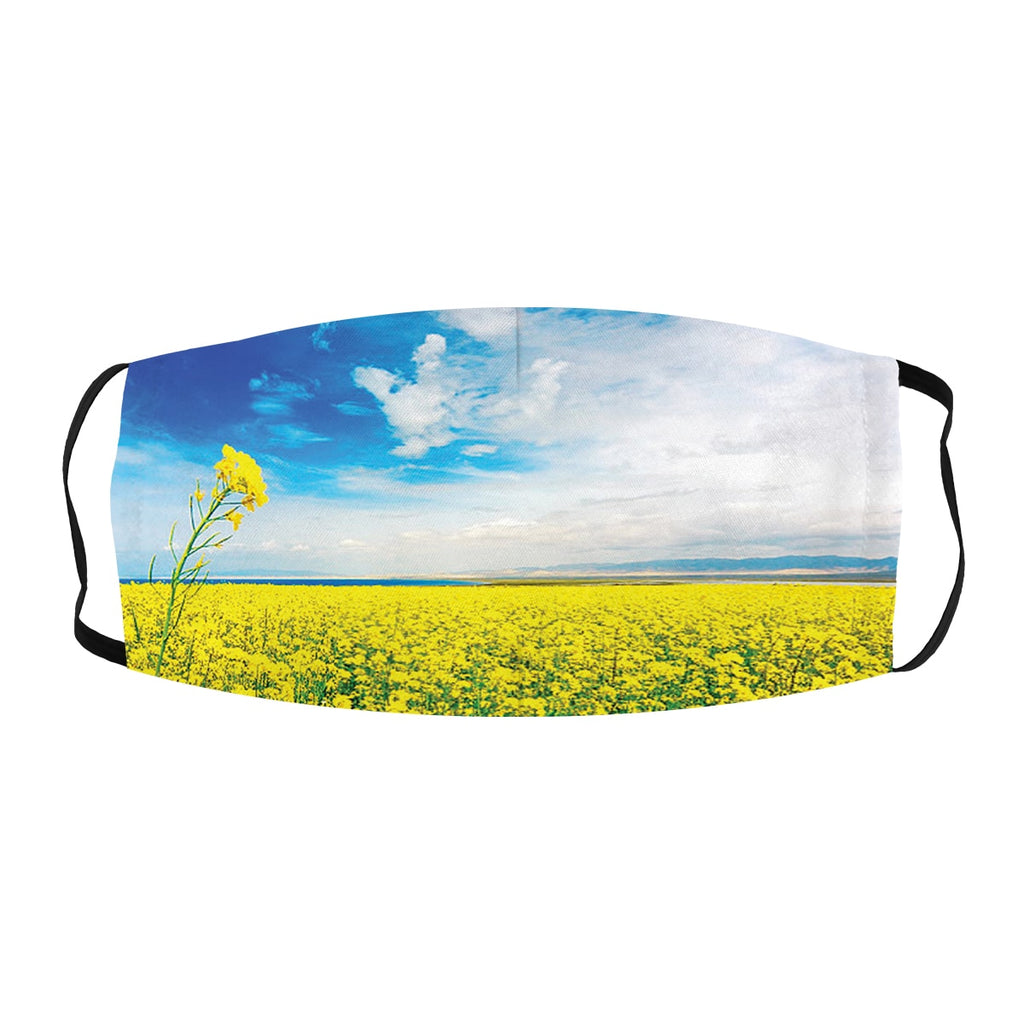ASTI Face Mask Flower Field Landscape