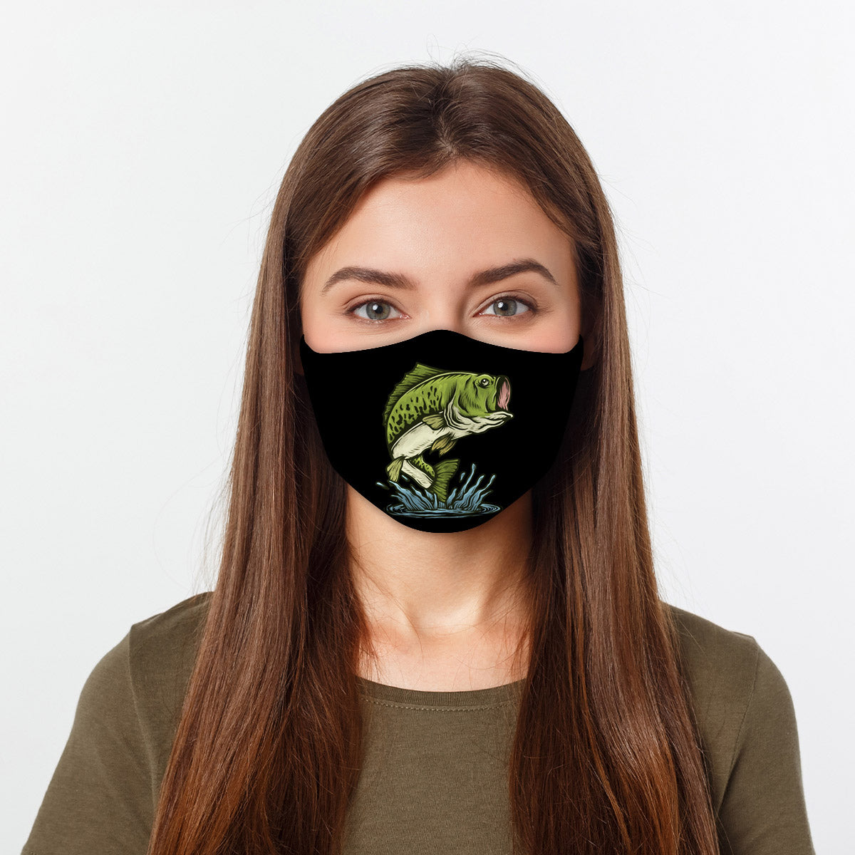 ASTI Face Mask Bass Fishing #2 Cloth Face Mask