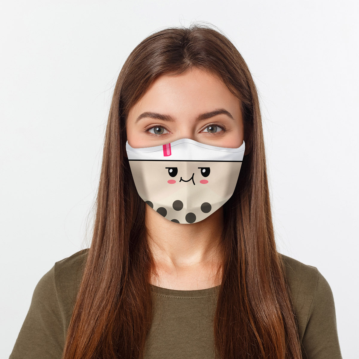 ASTI Face Mask Kawaii Boba Cloth Face Mask