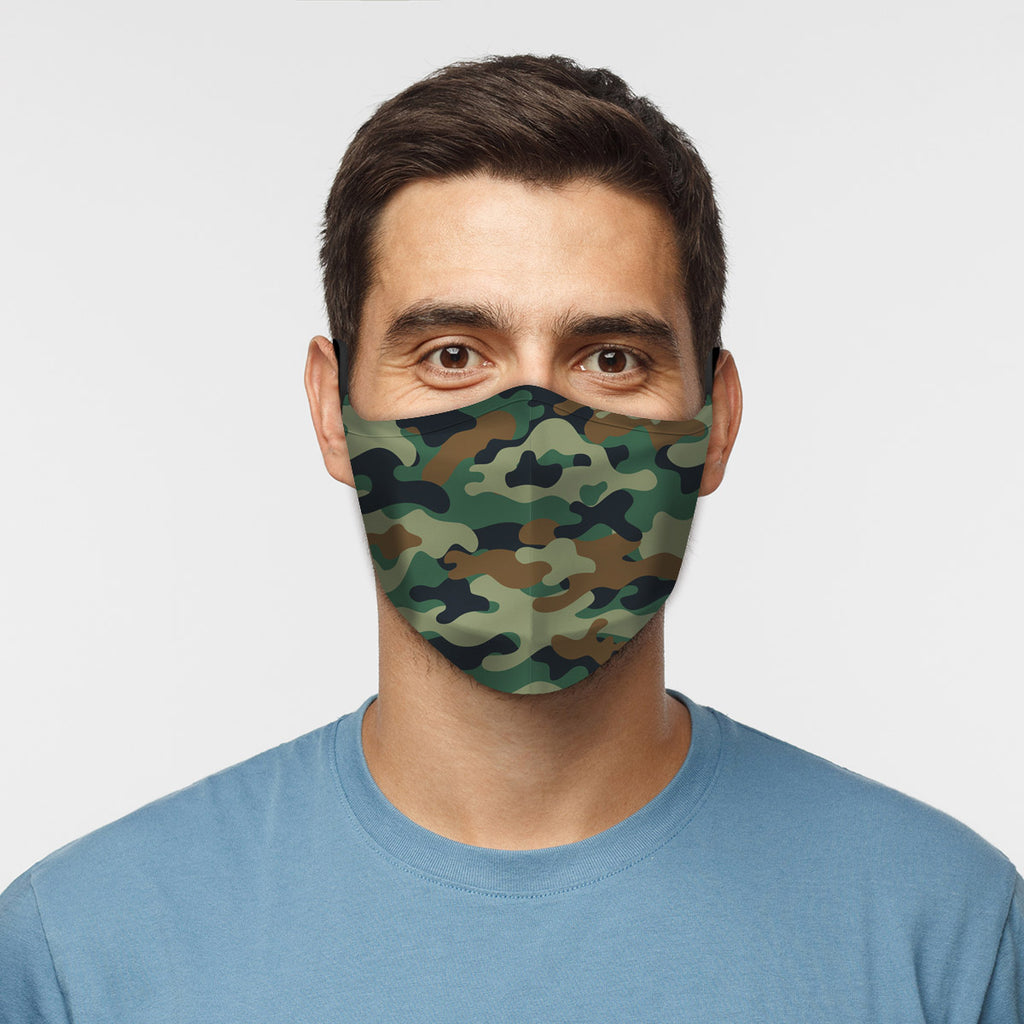 ASTI Face Mask Camo Green Cloth Face Mask