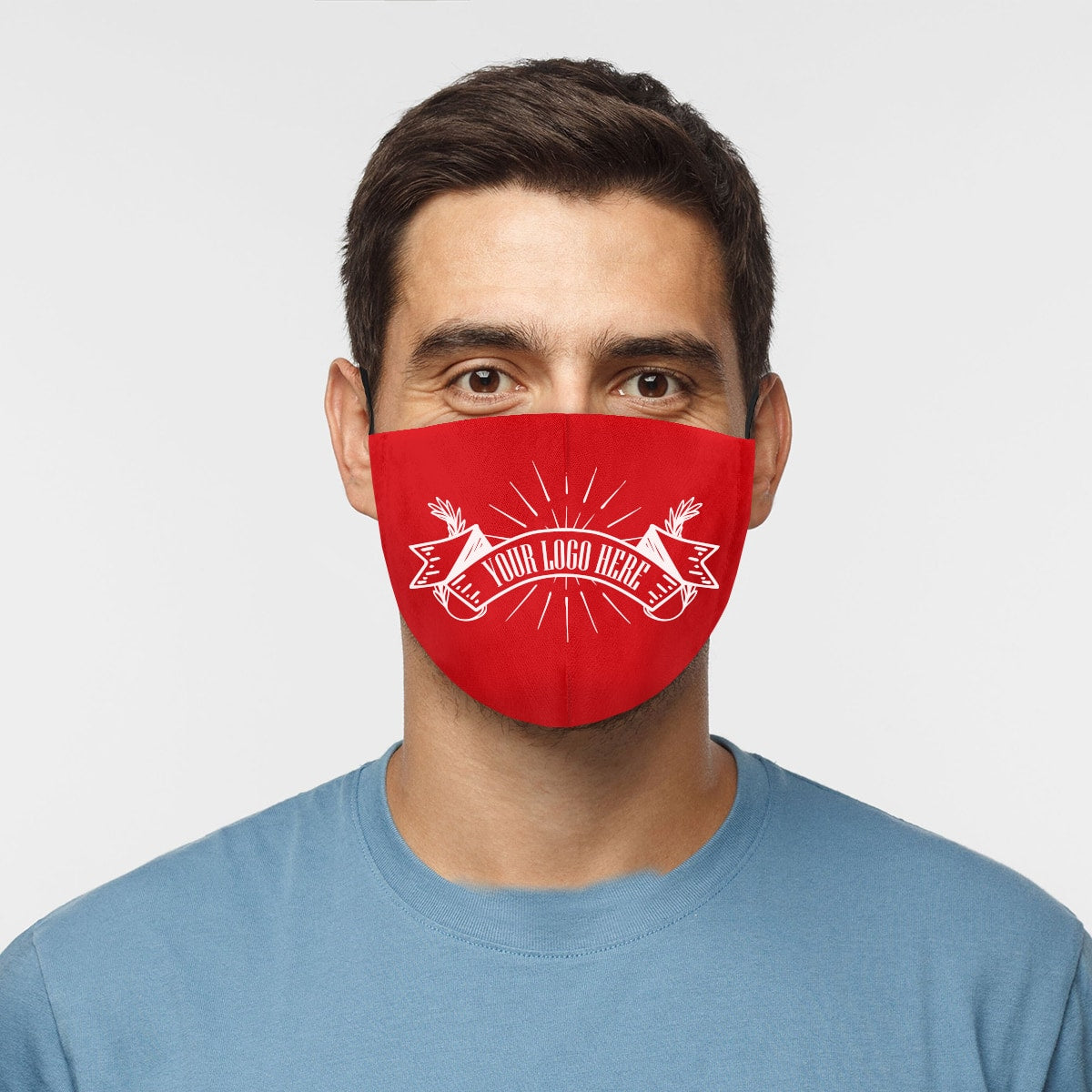 Custom Order Face Mask Your Company Logo Here Man