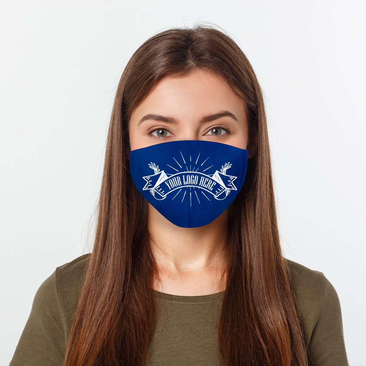 Custom Order Face Mask Your Company Logo Here Woman