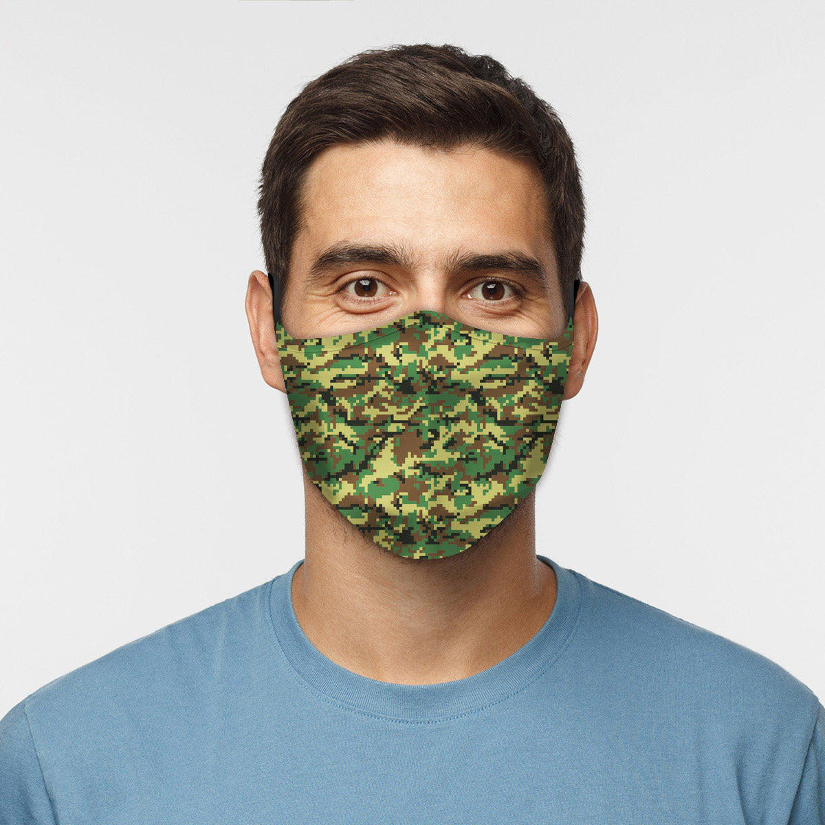 ASTI Face Mask Digicamo Green Cloth Face Mask