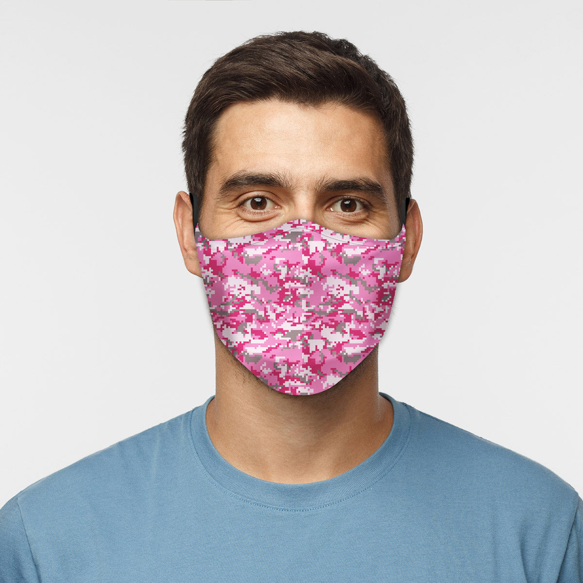 ASTI Face Mask Digicamo Pink Cloth Face Mask