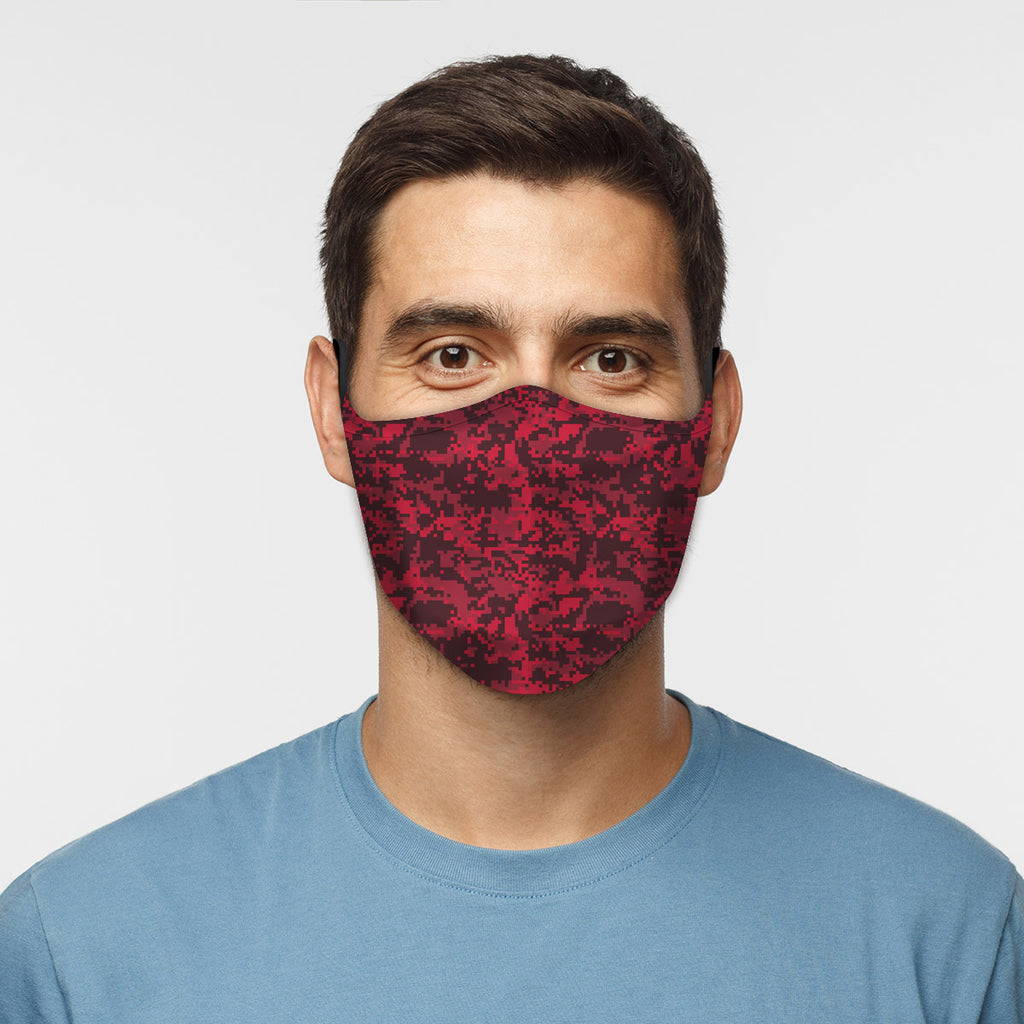ASTI Face Mask Digicamo Red Cloth Face Mask