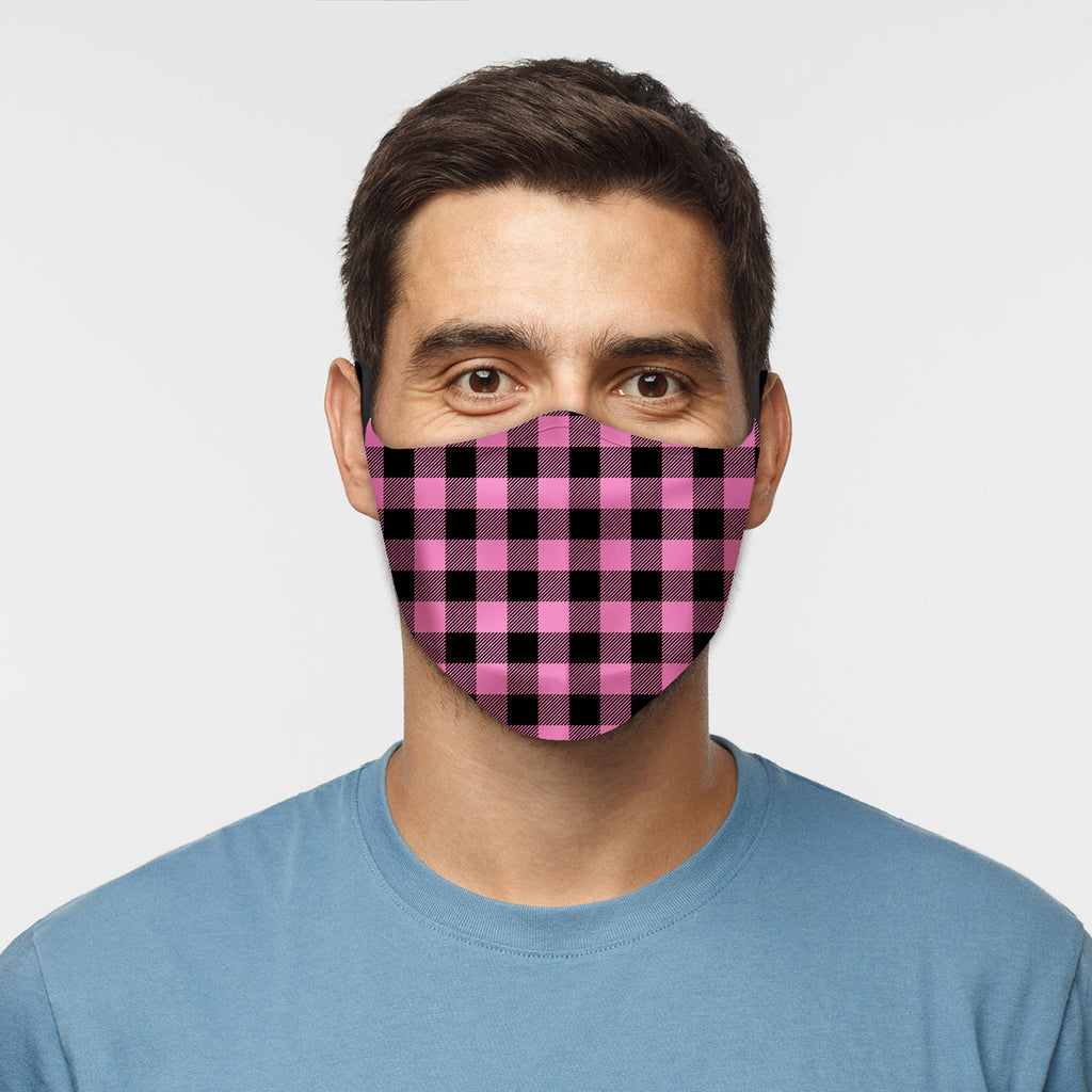 ASTI Face Mask Pink Flannel Cloth Face Mask