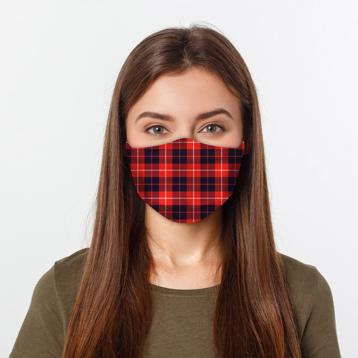 ASTI Face Mask Red & Blue Flannel Cloth Face Mask