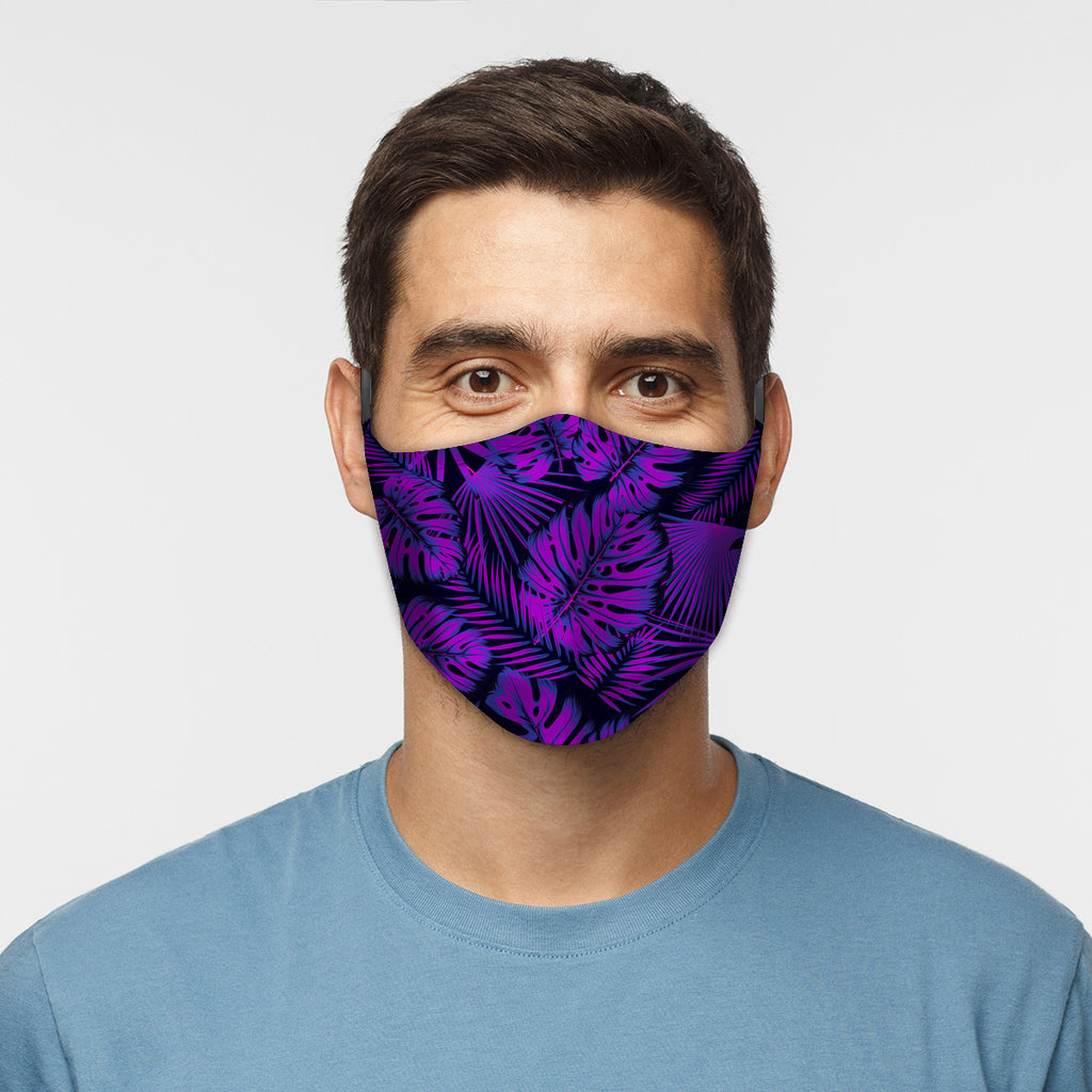 ASTI Face Mask Purple Floral Cloth Face Mask