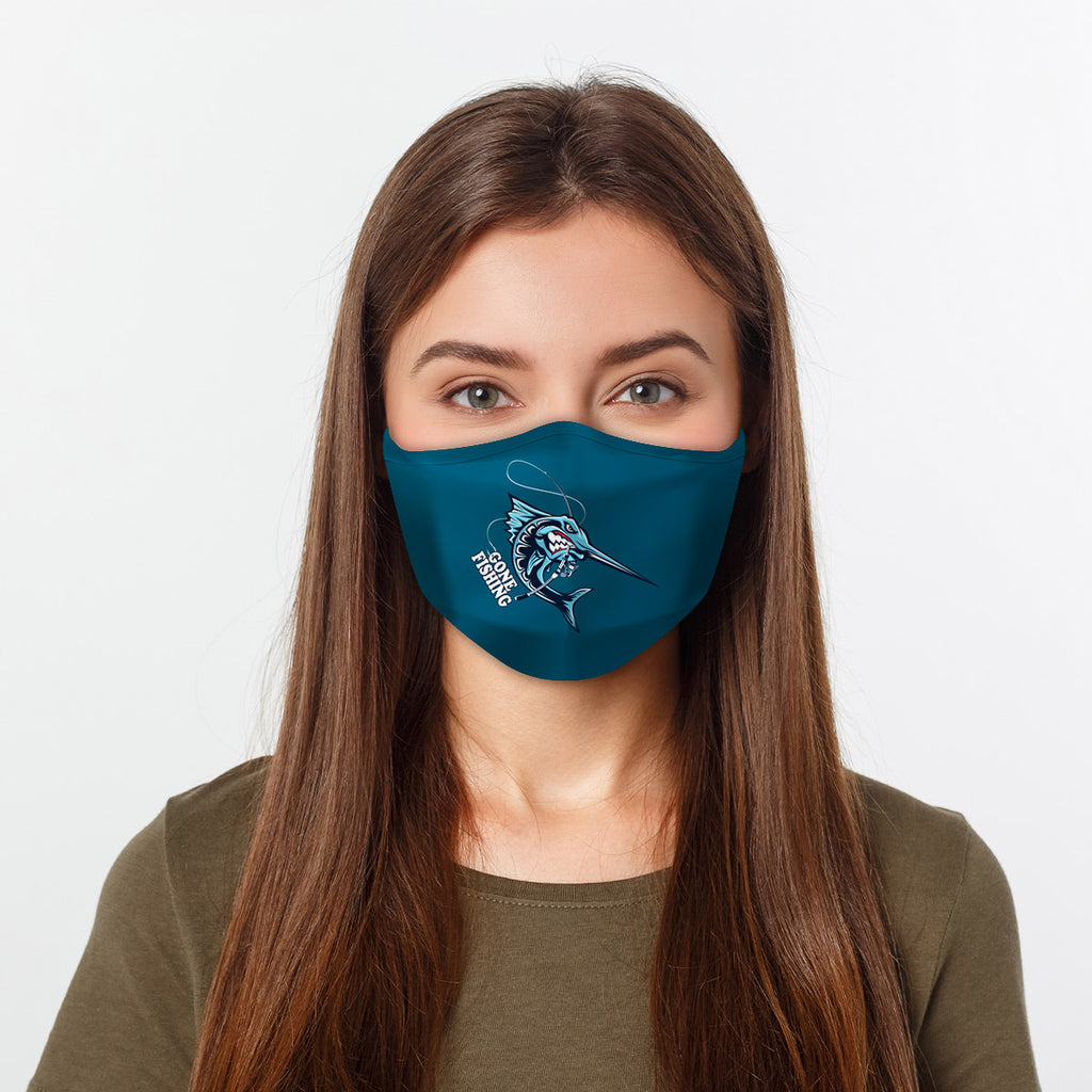 ASTI Face Mask Gone Fishing #2 Cloth Face Mask