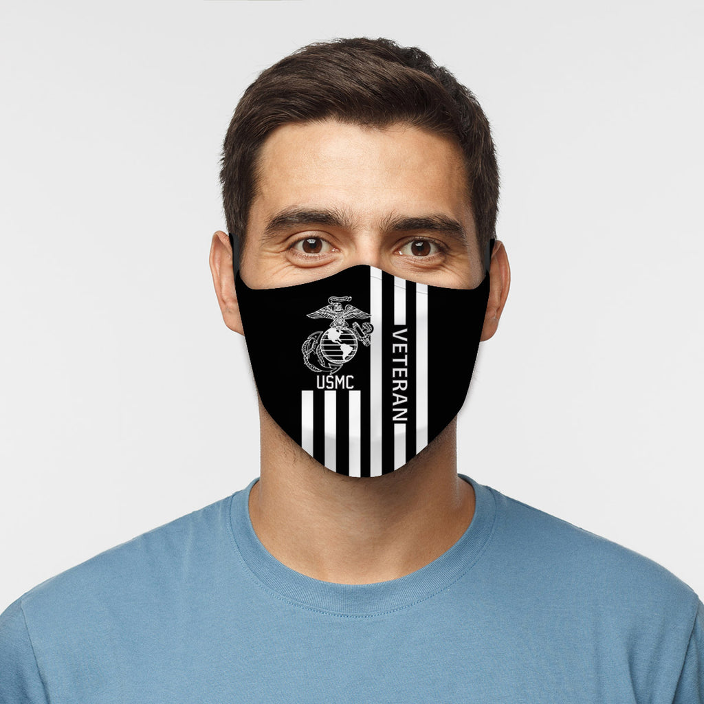 ASTI Face Mask United States USMC Veteran Cloth Face Mask