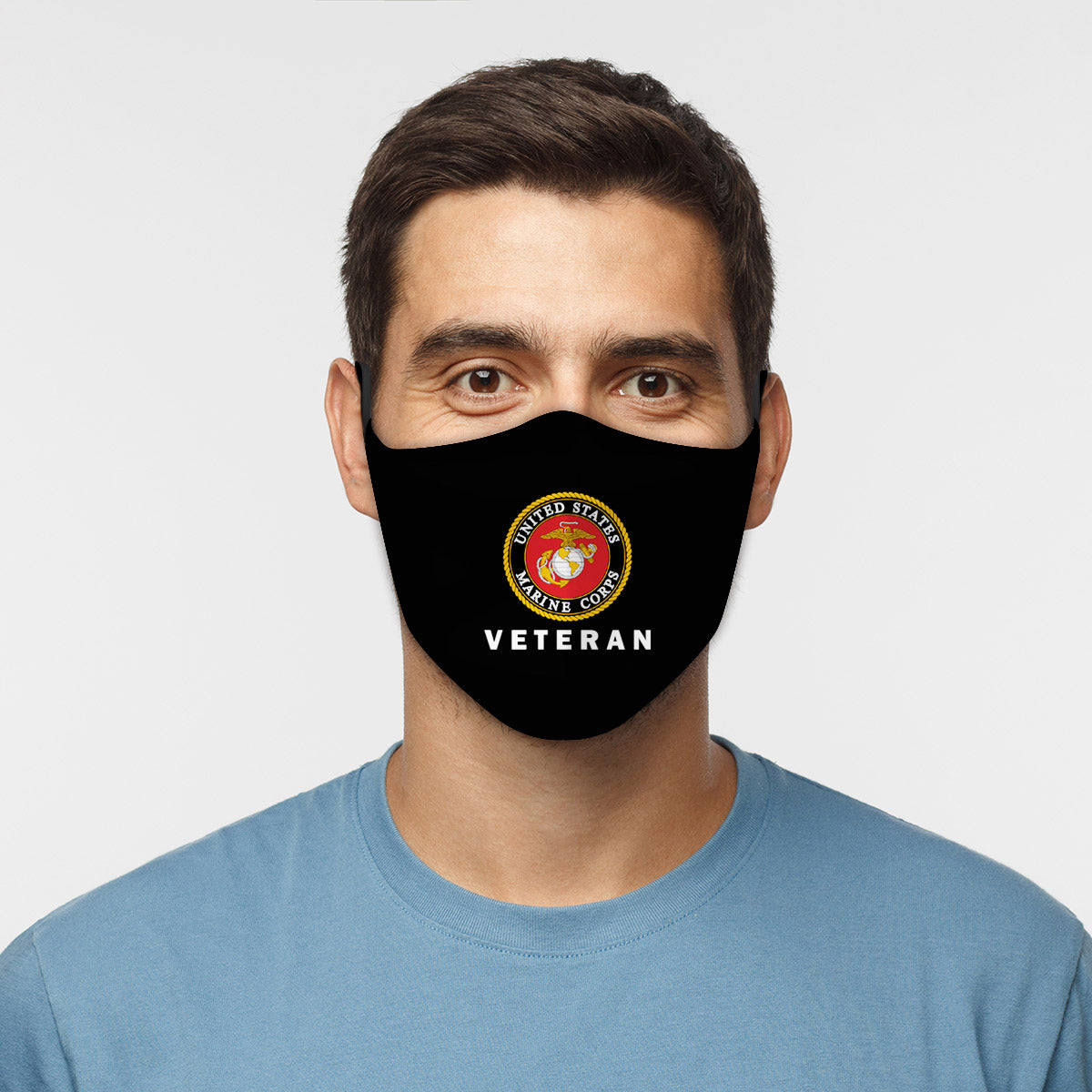 ASTI Face Mask United States Marine Corps Veteran Cloth Face Mask