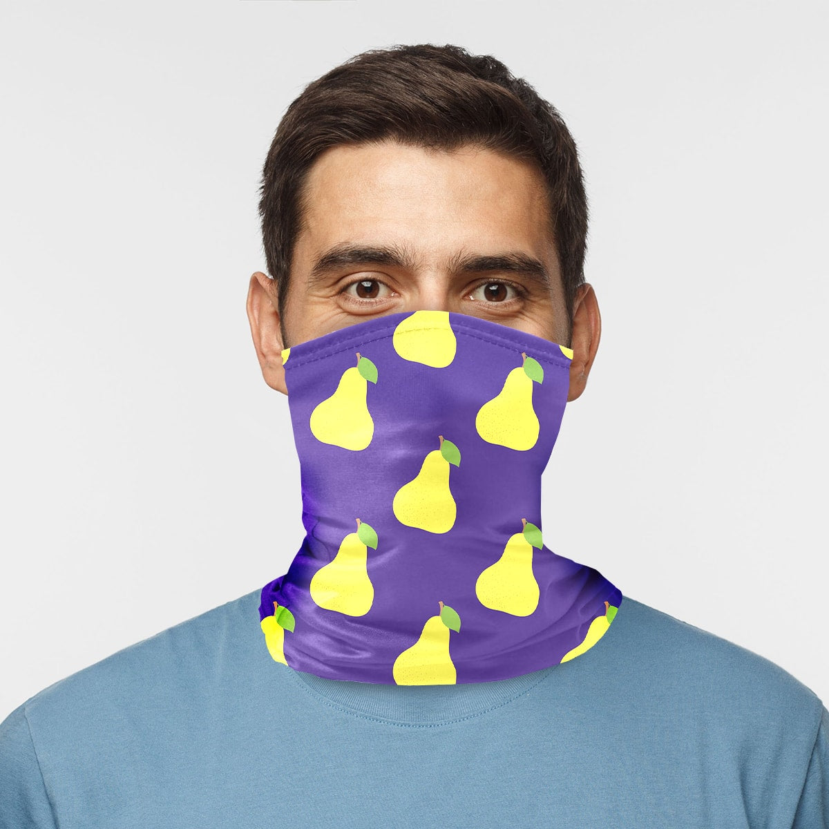 ASTI Neck Gaiter I Heart Pears Purple Man