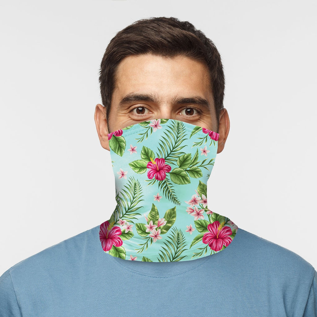 ASTI Neck Gaiter Tropical Hawaiian Print Man