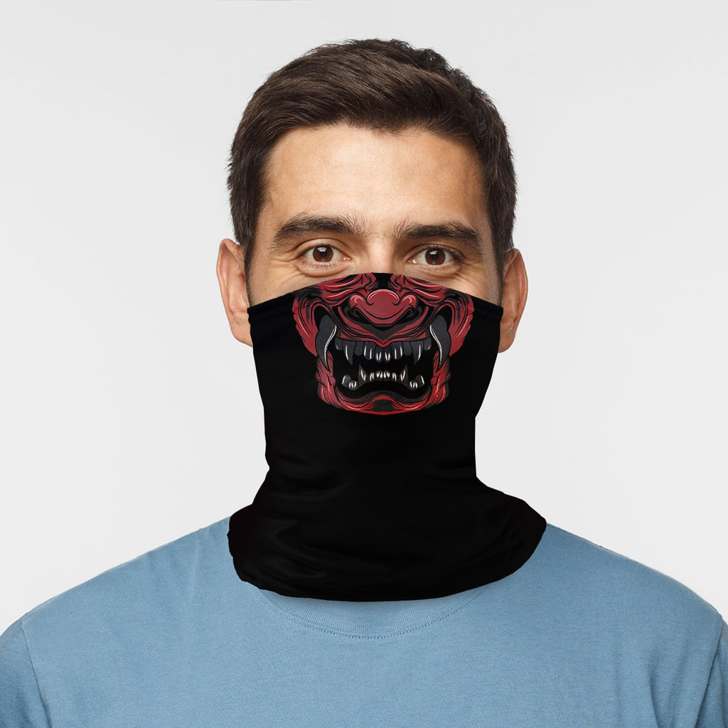 ASTI Neck Gaiter Oni Japanese Demon Man