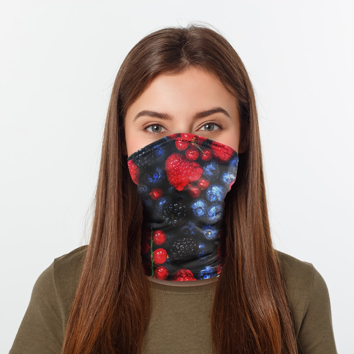 ASTI Neck Gaiter Berry Party Woman