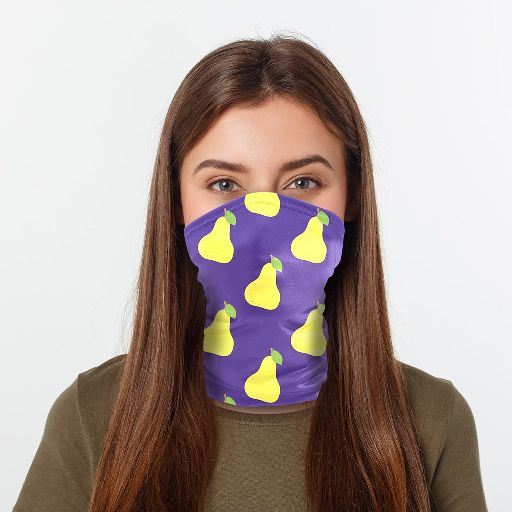 ASTI Neck Gaiter I Heart Pears Purple Woman
