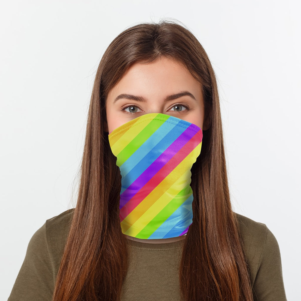 ASTI Neck Gaiter LGBTQ Flag 2 Woman