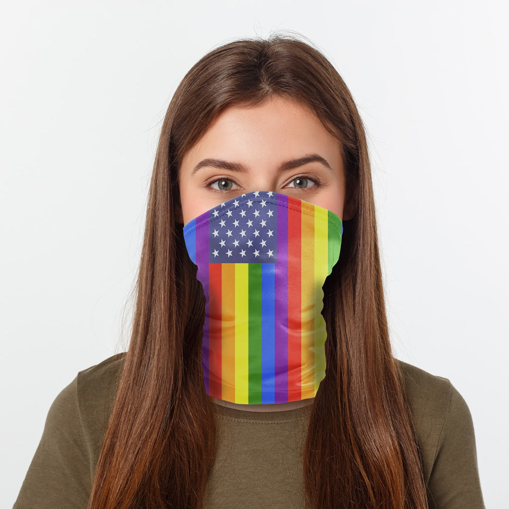 ASTI Neck Gaiter LGBTQ Flag 3 Woman