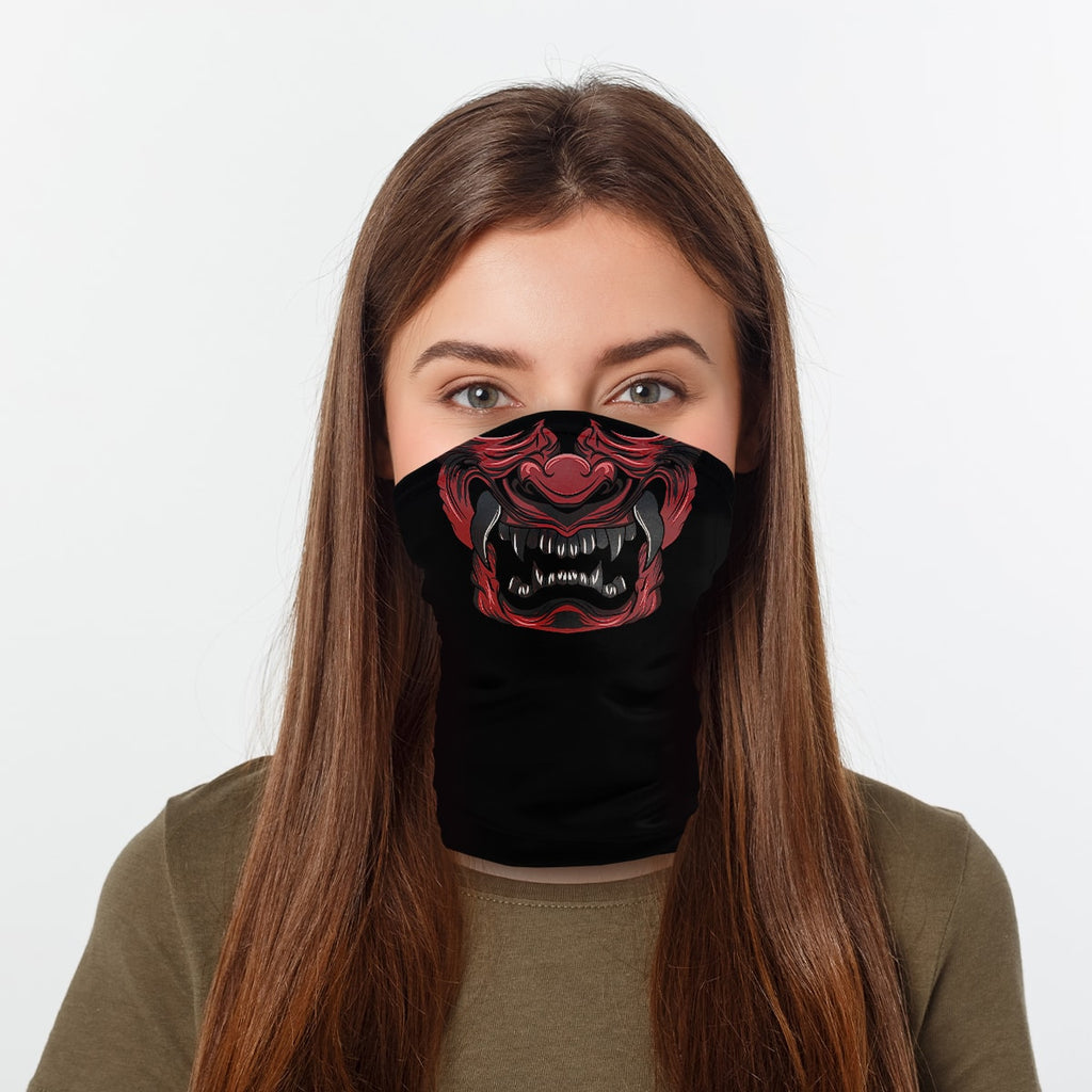ASTI Neck Gaiter Oni Japanese Demon Woman