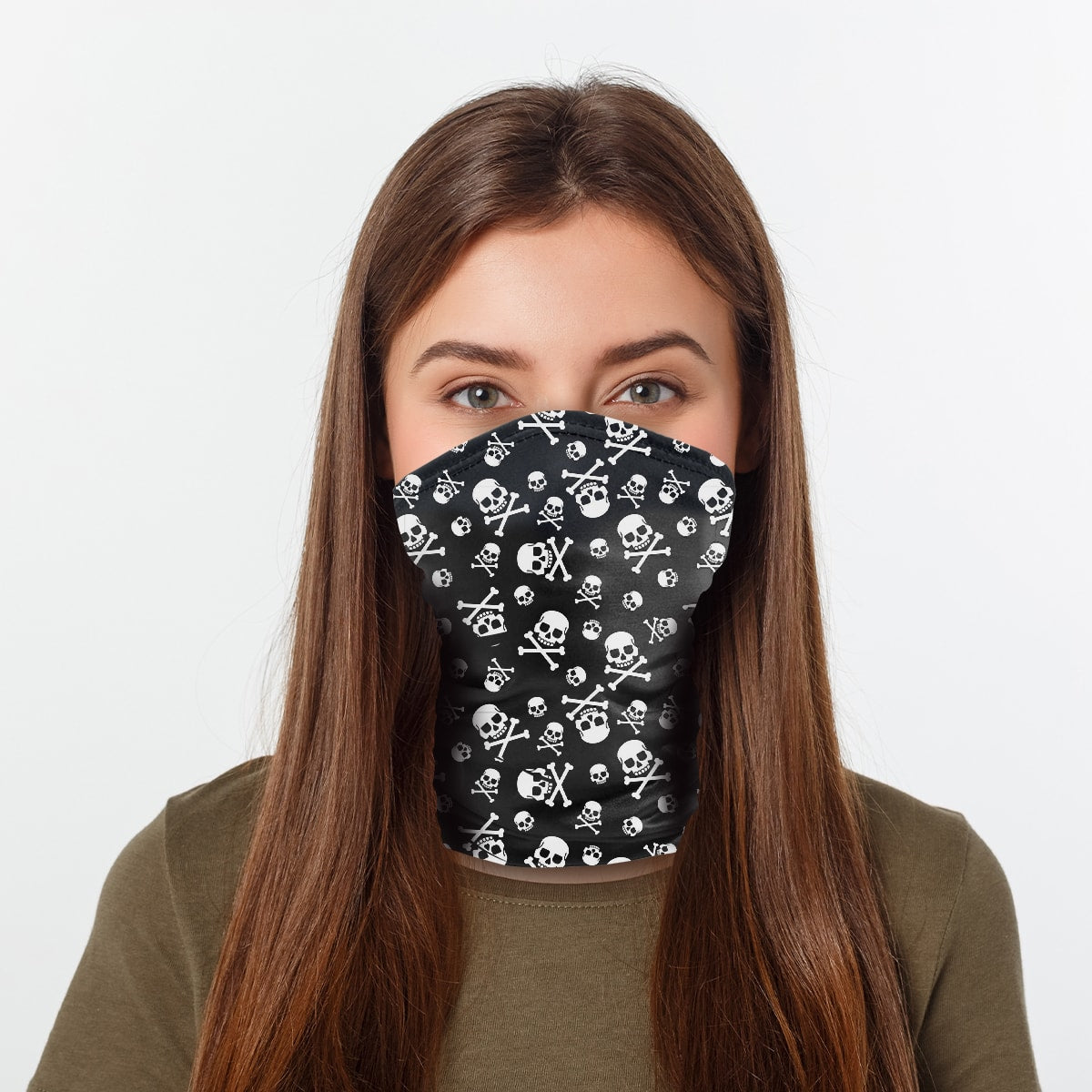 ASTI Neck Gaiter Pirate Skull And Crossbone Woman