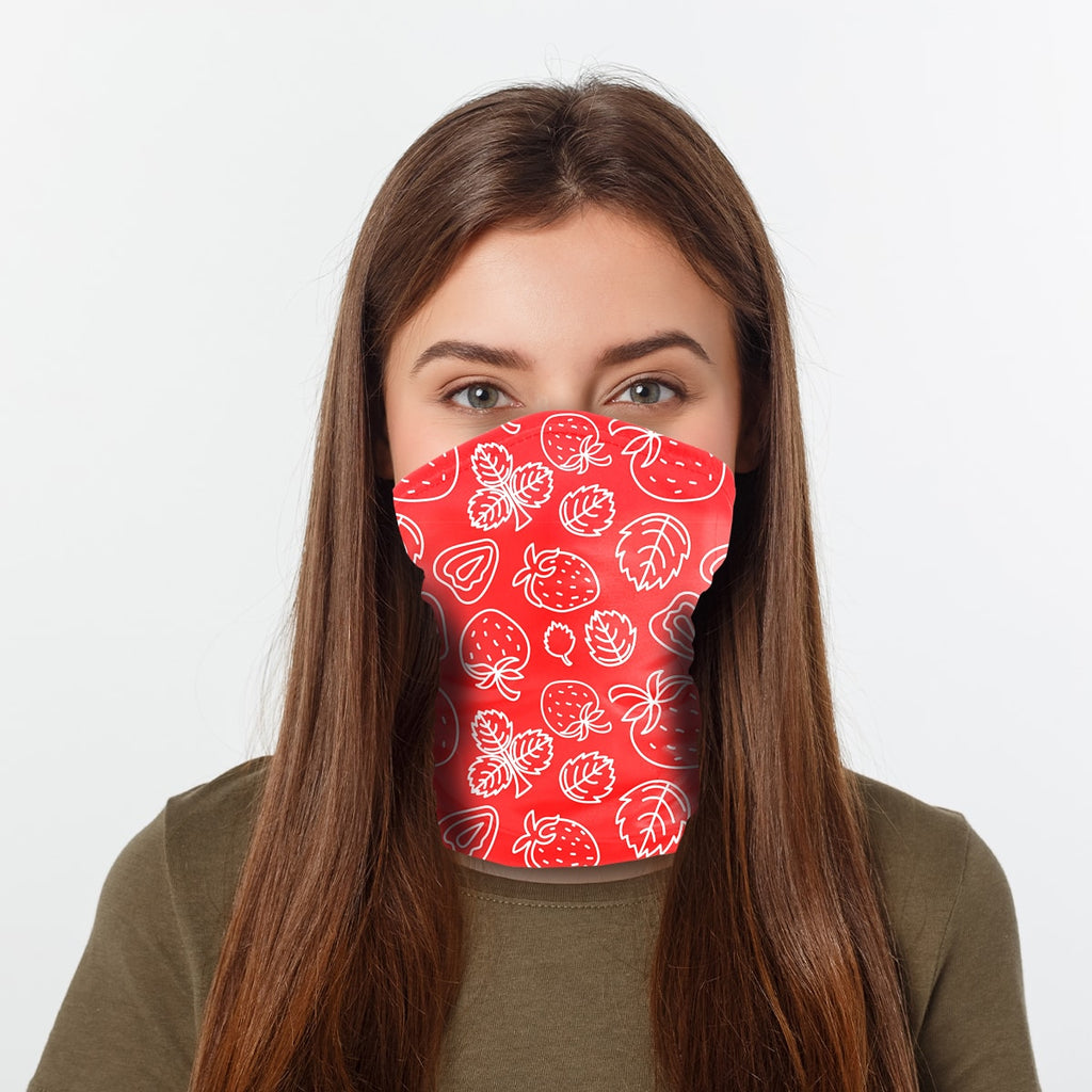 ASTI Neck Gaiter Strawberries 2 Woman