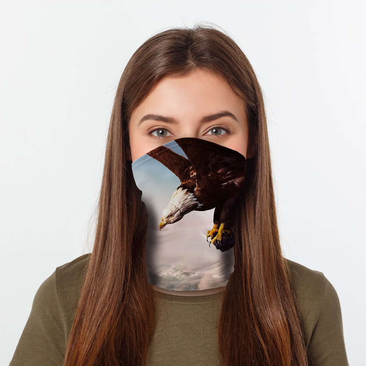 ASTI Neck Gaiter Proud American Eagle Woman