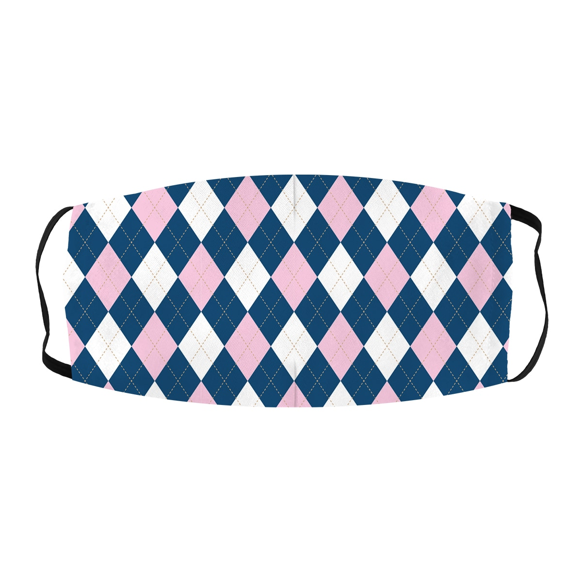 Golf Plaid Pattern Cloth Face Mask